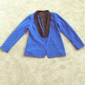 Rock&Republic blue smoking jacket w/black collar